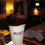 Bar with Moet